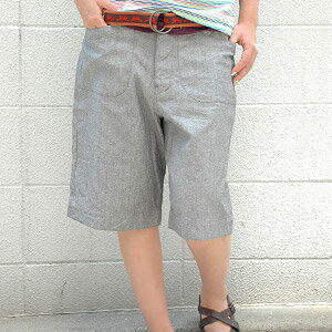 An appearance of the half underwear that the heart softens in the feel of texture of worn-out natural 杢 color! Bottoms ◆ ohana (オハナ) made in Japan which is good to the dressy casual clothes boasting the sloppy silhouette using the cell bitch to a hip pocket: Natural flysch half underwear