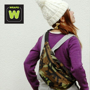 Colorful color scheme boasts ナイロンショルダー bag! Can be used as a waist bag and hip bag from daily use, such as commuting! Available in unisex camping recommended diagonal seat bag ◆ WRAPS ( RAPS ) :NEO BRIM