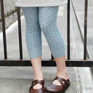 A natural girl is unmissable! Seven minutes length pattern leggings made of the carapace of a turtle waffle cloth of 100% of cotton that a small dot design spread through the one side! Careful sewing only by the product made in Japan and eight minutes le