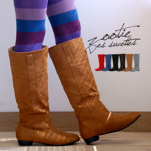 I take off basic design & to the affordable price that I come to want in different colors and develop six colors of the pride from low heel boots ♪ bright color of the 履 きのしやすさが pride to a basic color! / Lady's / shoes / shoes / shoes ◆ Zootie (zoo t