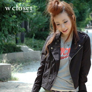 Cotton casual riders if it can challenge so feel free to ask! Compact thin outer 2WAY specifications can be transformed into the stand collar ◆ w closet ( doubleklosett ): cottentwilsingelrai jacket