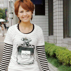 --Los Angeles brand from perfume casual short sleeve T shirt! The soft fabric of rayon cotton charm compact Tee ◆ JOY RICH ( Mickey Mouse No1 ): perfume print T shirt