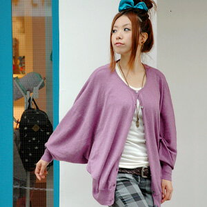 A dolman wing of a good Ikuji cardigan directing a feminine shoulder rotation! Spacious long sleeves light cardigan ◆ circular dolman sleeve cardigan it is 100-percent-cotton, and I am sloppy, and to be able to put on lightly