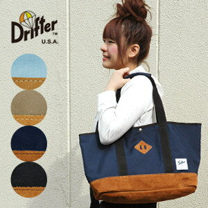 American bag brand Drifter capacity 23 L メガトート! The combination of durable nylon fabric with leather suede leather! Commuter school mothers bag ◆ Drifter ( drifter ): ナイロンカーゴラージト�