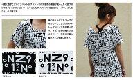 アルファベットナンバーTシャツワンピース