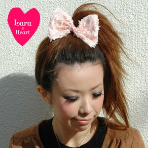 Lara &Heart's shimmering sequin bow hair elastics is gorgeous enough! Use daily & party scene even versatile hair accessories / bracelets / リボンモチーフヘアポニー ◆ Lara &Heart (ララアンド heart): スパンコールリボンヘアゴム