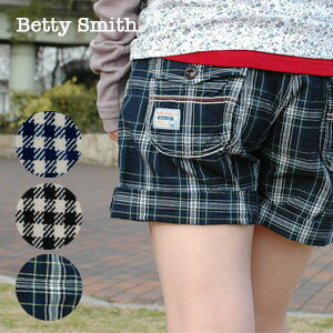 Detail from the Betty Smith's glowing check short pants! Hot pants was made under the assumption that roll up very adult-like gingham and Tartan mini-beauty legs ◆ Betty Smith Betty ( Smith ): カジュアルチェック shorts