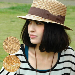 "Summer still straw hat!? ""still doesn't have a Boater"" Oke choose the Kore are first definitely! In standard easy-to-wear trend accessories natural straw キャノチェ hats ◆ GLO Grand Ribbon straw boater"