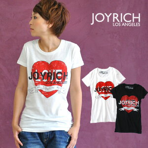 Collaboration of tattoo and JOYRICH of the heart! ♪ /Tatto Heart Tee/ thin /A line silhouette / pop / Lady's /S size /M size ◆ JOY RICH (Joey Rich) fully cool a logo embossed on the heart print which I was able to graze presence: LOVE heart tattoo &