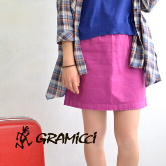 G skirt like the intact miniskirt Gramicci classic G-SHORT! Nylon belt waist adjustment can easily! Clean because even Keystone チノスカート /WMN'S wear ladies / women's solid color ◆ Gramicci ( gramicci ) :WOMEN'S G-SKIRT
