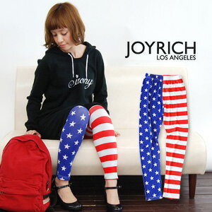 As for the left foot, horizontal stripes, the right foot are patterned stars. Anyway, for spats / stripe pattern /10 of the Star-Spangled Banner pattern that a doh is showy length / enough length /Stars & Stripes Leggings JOY-F1116PT ◆ JOY RICH (Joey Rich): Americana full-length leggings