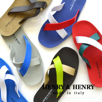 Made in Italy クロスビーチ sandals and stylish! Excellent grip soft rubber ♪ leisure and Taunus OK unisex flat shoes / shoes / men / women ◆ HENRY &HENRY Henry & Henry CROSS