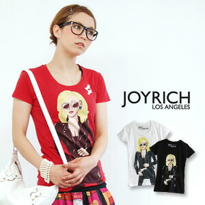 "JOYRICH blond little ワル here ""タフガール"" depicted in the American comic touch T shirts! Like body lines answer the unique JoyTee! / Women 's/sewn ◆ JOY RICH ( Mickey Mouse No1 ) :Tough Girl Tee"