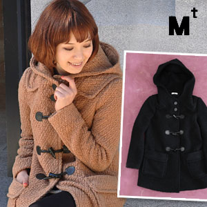 Silhouette boasts Duffle coats! Not fluffy Boucle 着膨れ • casual x clean up of collaboration! Loose it though and can wear to compact and lined with ◆ Mt ( MT ): ウールブークレーダッフル Court