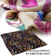 ハートチェーンサテンスカーフ