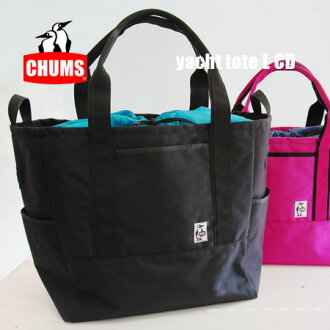 Pretty BIG size! outdoor feel with durable Cordura nylon shoulder BAG! Over the shoulder gusset / big / men's / men combined / unisex / mother bag /Yacht Tote L ◆ CHUMS ( chums ): ナイロンヨットトート bag [L]