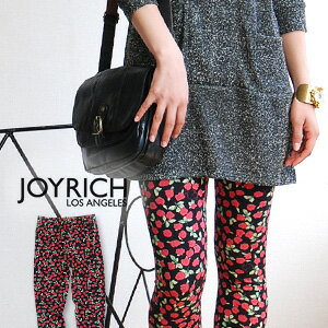 "Whole pattern spats using cool, sexy NEW textile ""mini-Rose!"" For cut-and-sew cloth leggings / floret pattern /10 which is usable in all seasons length / enough length / cat / cat /JOY-F1141PT ◆ JOY RICH (Joey Rich): Mini Rose Legging"