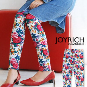 "Whole pattern spats using the textile ""rosette"" of the fascination to create classical を loudly! For cut-and-sew cloth leggings / size floral design /10 which is usable in all seasons length / ten minutes length /JOY-F1136PT ◆ JOY RICH (Joey Ri"