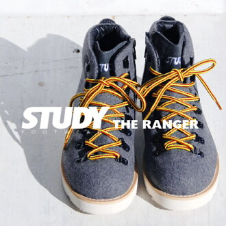 "NEW model trekking shoes of ""STUDY"" made of felt materials. Is with the & side zip which is lighter than an appearance; putting on and taking off easily ◎ mountain climbing shoes / higher frequency elimination / Lady's / plain fabric / sneakers / mountain boots ◆ STUDY (study): THE RANGER [GRAY]"