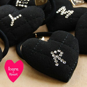 Lara & heart hottest hair accessories or suede style quilt appeared rhinestone alphabet here pony pun ◆ &Heart Lara (Lara and heart): fake sedkiltinginitiarharthairgom [Black]