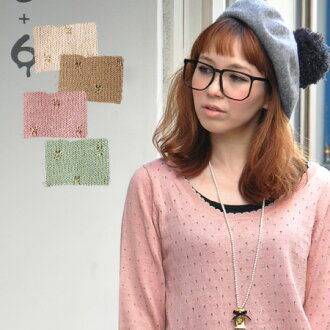 Eyelet polka dot photono over ♪ point became a scalloped neckline, cuffs and hem! / Compact / knit sweater / みずたま pattern and polka dot pattern and sleeve / Angora Blend ◆ ラメパンチングドットスカラップニットチュニック