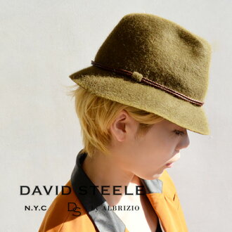 Hat of the shaggy ファーフェルト friendly impression. Leather cord winds around the Gulli and decorated with strings accent / Hat / ladies / women's / import ◆ DAVID STEELE ( デヴィッドスティール ) JED HAT