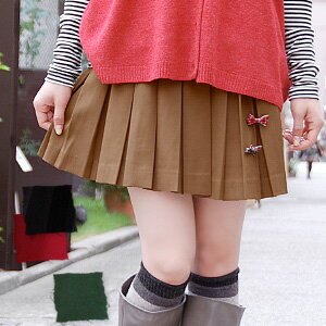"Mast by ""pleated skirt"" of this season, twill pleats miniskirt with the mini-length ♪ / back aboriginality / plain fabric / shortstop length / box pleat / traditional fashion / Lady's / classical / preppy / yellowtail tissue / schoolgirl ◆ peti"