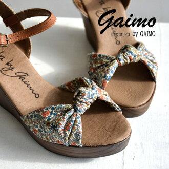 Liberty's floral pattern & Paisley's strap belt with インポートウ edge sandal /NURIA-L ◆ marta by GAIMO ( マルタバイガイモ ) :M-NURIA-LB リバティーリボンウッドウェッジソール sandals