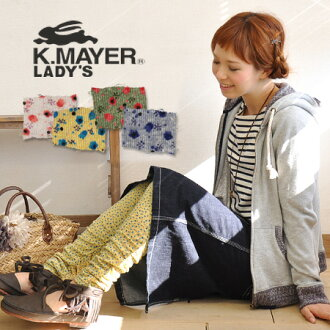 The small floral design spats which gathers were classified into to the hem which added color to the casual coordinates. Pattern and item / Lady's / leg wear ◆ KRIFF MAYER (Cliff Meyer) which I do not insist on too much which is not too sweet of bright coloration: クシュクシュヴィンテージフラワーレギンス
