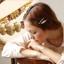 【メール便可03】コットンパールやパールビーズが華やかに飾られたヘアピン2本セット◎絶妙なバランスで飾られた大小様々なビーズはまるで本物のアンティークみたい!ヘアアクセサリー レディース ◆zoule(ゾーラ):アンティークコットンパールビーズヘアピンセット