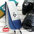 【メール便可10】カメラ女子もカメラ男子も必見♪強度のあるコーデュラナイロンを使用したカメラホルダー ユニセックス 男女兼用 ネックストラップ プレゼント ◆CHUMS(チャムス):スウェット×ナイロンカメラストラップ