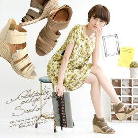 天然柔和色彩的交叉綁帶涼鞋【ナチュラル優しい色合いまでクロスしたストラップサンダル】
