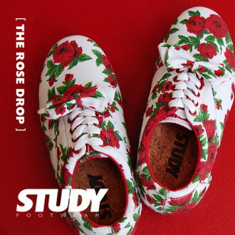 Simple, light Oxford sneakers plus ribbons, etc. based on gorgeous rose pattern locate sneaker / women's / shoes / rose pattern / floral / rose pattern /SS1212 ◆ STUDY ( study ): ROSE DROP