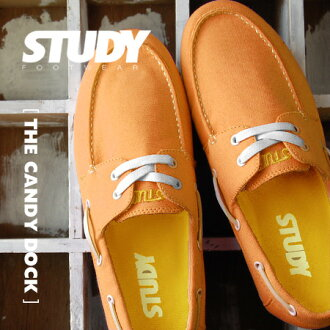Street names in POP candy color colorful proud deck shoes; Chides low-cut design • sneakers / ladies / / plain /SS1237 ◆ STUDY ( study ): CANDY DOCK