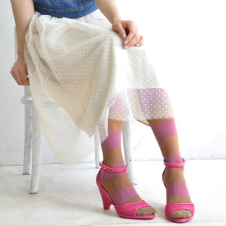 Color tights wide Bader pattern transition and thin denier offers sheer sense of present-day ♪ toe through & with no type of heel size free/footwear/socks/pantyhose/stockings/socks ◆ シースルーワイドボーダー tights