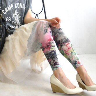 The bright, bold floral design spats such as the picture such as the photograph. The presence that wears well by the asymmetric coloration that I seemed to finish dyeing. Was smooth by a good slight wound in spring and summer; wear; legware ◆ collage art flower leggings of the feeling