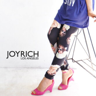 "Funky angels who wore sunglasses! The whole pattern spats using the textile ""cool chapel"" like Joey Rich! It is length /JOY-F1265PT ◆ JOY RICH (Joey Rich) Cool Chapel Legging for cut-and-sew cloth leggings /10 which is usable in all seasons for"