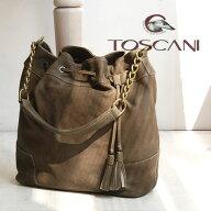 TOSCANI(トスカーニ)カーフレザーチェーンハンドル巾着バッグ