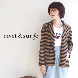 All the COOL pattern women's long jacket will finish the code smart with the color scheme. The outstanding comfort ジャージーカットソー material / long sleeve / outerwear / coat ◆ rivet and surge ( rivet & surge ): ボーダーポンチテー jacket