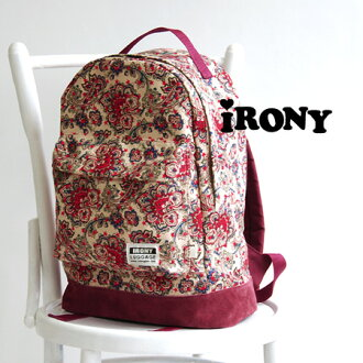 Exotic Paisley backpack. Also logo with emblem adorned brand appeal also perfect! Easy to fit A4 magazine, bulky baggage also put. / bag / bag /BAG/09-13ss-05 ◆ irony (irony irony): ペイズリースター back pack
