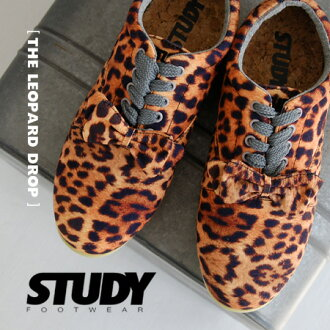 Real Leopard pattern, such as transfer deck shoes. It's a CUTE Manish low cut design. With インヒール / sneaker / women's / pattern / Leopard Leopard / animal print /SS1316 ◆ ( study ) STUDY THE LEOPARD DROP