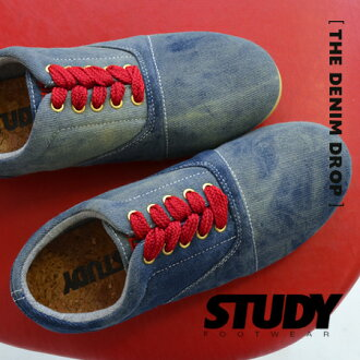 Stylish atmosphere faded away! Vintage denim style deck shoe. It's a CUTE Manish low cut design. With インヒール / sneaker / Womens /SS1324 ◆ STUDY ( study ) THE DENIM DROP