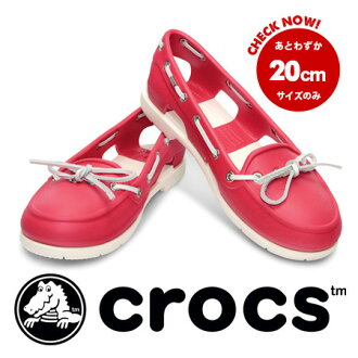 colorful color scheme only in Crocs モカシンローファー style slip-on sandals. Cross right material light and excellent cushioning. From the W4 (20 cm) W9 (25 cm) / ladies / women's / 14261 ◆ crocs (crocus) beach line boat shoe w