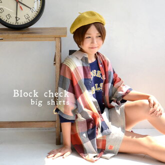 Cute ユルシルエット are dressed as oversize, check pattern シャツチュニック. Cool India cotton material, comfortable ♪ / women's / short sleeve ◆ ピンタックブロックチェックドルマン big t-shirt