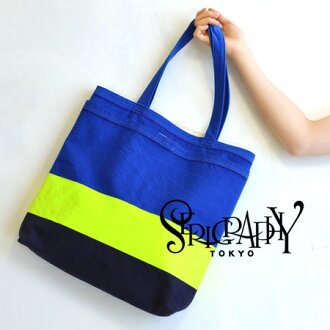 The fluorescent color of the heterogeneous material atmosphere expressed in print tote bag. This year seems to be triple color design • / bag / bag /BAG / over the shoulder gusset / shoulder /ID2511-004 ◆ BORDER SERIGRAPHY TOKYO ( セリグラフィートーキョー )