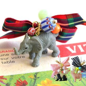 現實過,太可愛!猪對大熊猫有象的動物動機了的耳機杰克。發帶以及有孔玻璃珠的裝飾喜愛漂亮◎スマホピアスイヤホンピアススマフォピアス手機電話猪象女士的漂亮的◆動物盛裝游行耳機杰克
