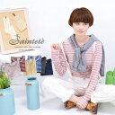 サンテテ新シリーズ登場。上質な糸を軸に、その周りを高級スーピマ綿で包んだ糸で編みあげた天竺カットソーシリーズ。