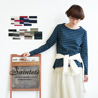 Sense of dough easy to handle difficult, oblique line with popular 16-Indian border = long-sleeved pullover. That extends toward the hem line women directing ◎ ◆ Saintete ( サンテテ ): 16 / line = tenjiku border boat neck A Chateau