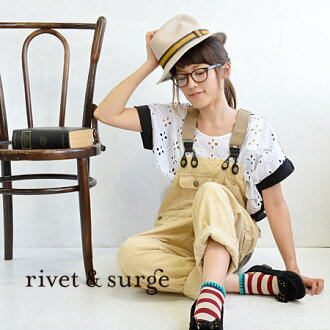 Winter overalls with corduroy material. Easy to roll up a tapered silhouette. Pay attention to the different material knit Pocket ◆ rivet and surge ( rivet & surge ): ノルディックポケットコーデュロイサロ pet pants