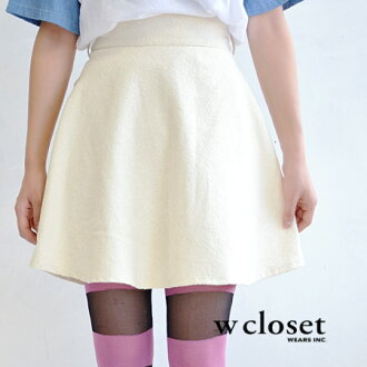 "The classical floral design flared skirt which I expressed with a casual ""texture."" Silhouette /fs3gm ◆ w closet (double closet) which opens like circular skirt to high-quality jacquard cloth wealthily: Jacquard lattice flower flare miniskirt"